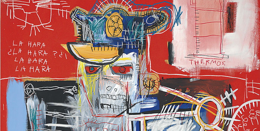Jean-Michel-Basquiat.-La-Hara.-1981.-Acrylic-and-oil-stick-on-wood-panel._835jpg