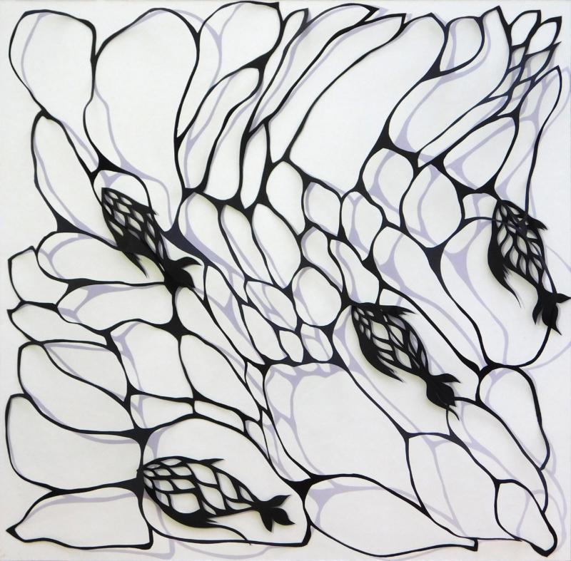 labirinti #01 _ papercutting su carta G.F SMITH _ 23x23x4,5cm _ 2018 _ DSCN0028